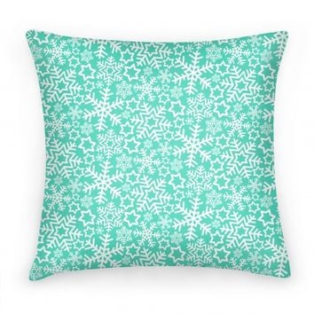Winter Snowflakes Mint Pattern