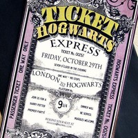 Invitation Hogwarts Express Harry Potter by LoraleeLewis on Etsy