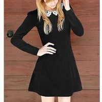 Hollow Collar A-line Dress