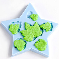 Maple leaf mold - silicone six cavity flexible mold for resin - plaster - PMC - polymer clays - paper - hot melt