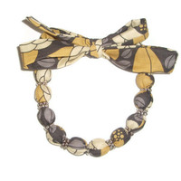 Fabric Necklace Choker made with Joel Dewberry Bloom Granite
