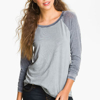 Rubbish® Relaxed Baseball Tee (Juniors) | Nordstrom
