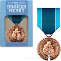 $12.99 BROKEN HEART MEDAL