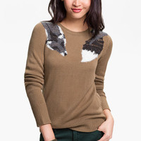 Frenchi® 'Fox Stole' Sweater (Juniors) | Nordstrom