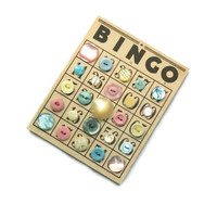 Vintage BINGO Button Lot, Cotton Candy Carnival, Pastel Vintage Buttons -- 1001