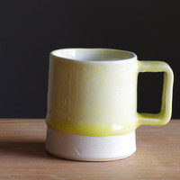 SALE small yellow mug modern pottery espresso mug