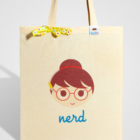 Cutie Nerd Tote Bag | Cotton Printed Tote | fredflare.com