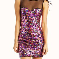 sequined-dress FUCHSIA - GoJane.com