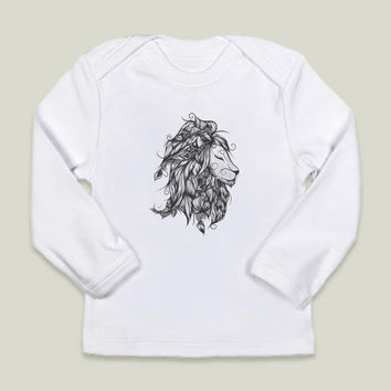 Poetic Lion B and W Infant Long-Sleeve T-Shirts by loujah on BoomBoomPrints