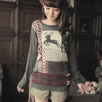 Buy Cheap Fashion women 's clothing, the diamond tacky Christmas sweater - Wholesale-Apparels.com