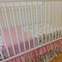 SALE----Bumperless Crib Bedding-READY to SHIP