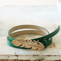 Feathered Journey Belt in Kelly Green, Sweet Country Inspired Jewelry