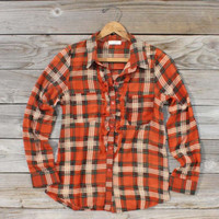 Fairytale Plaid Blouse, Sweet Bohemian Clothing