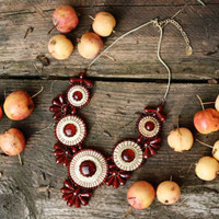 Bohemian Romance Necklace in Apple, Women's Sweet Bohemian Jewelry