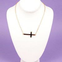 Lay It Down Cross Necklace $7