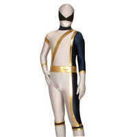 Full Body White and Blue Lycra Spandex Back Zipper Unisex Zentai Suit [TWL111228009] - 24.19 : Zentai, Sexy Lingerie, Zentai Suit, Chemise
