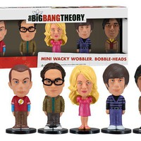 Big Bang Theory Bobblehead Mini Wackly Wobblers - Collection of 5 Hilarious Bobbleheads!  - Whimsical &amp; Unique Gift Ideas for the Coolest Gift Givers
