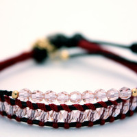 Swarovski crystal thread bracelet