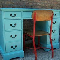Jamaica Blue Desk from 1954 by minthome on Etsy