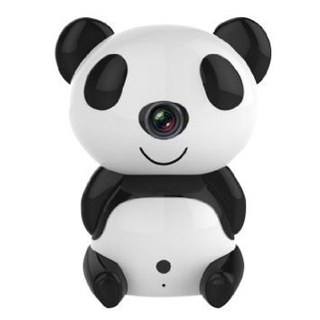 Annke® HD 1280 x 720P Day/Night Wi-Fi Baby Moninitor Cute Panda Cloud IP Wireless 30ft Night Vision Video Monitoring Camera(Two-way Audio, Easy to Setup,WPS Function, Remote Upgrade)