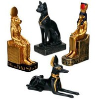 Egyptian Statues (Set Of 4) - Collectible Figurine Statue Figure Egypt