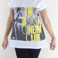 Two Door Cinema Club T-Shirt -- Indie Rock T-Shirt Unisex T-Shirt Women T-Shirt Men T-Shirt Rock T-Shirt White T-Shirt Size M