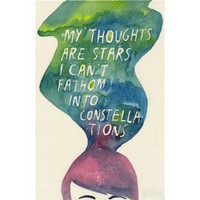 DFTBA Records :: My Thoughts Are Stars Poster