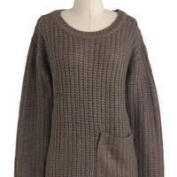 Apple Butter Breakfast Sweater in Fog | Mod Retro Vintage Sweaters | ModCloth.com
