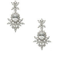 CZ by Kenneth Jay Lane Round & Marquise Clear CZ Earrings