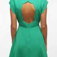 Silky Scallop-Back Dress