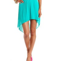 Bow Belt Pleated Chiffon Skirt: Charlotte Russe