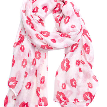 Pout Of This World Lip Print Scarf
