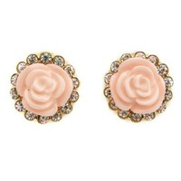 Diamond Rosette Stud Earrings: Charlotte Russe