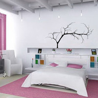 "Wall Decal Bare Tree 4 Small 44""Wx22""H Vinyl Wall Decal 22224"