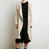 Hooded Asymmetrical Longline Jacket