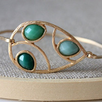 Green bangle - custom size - limited offer