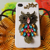 Owl iPhone 4 ,4S hard case cover With ancient owl for iPhone 4 case,iPhone 4S case,iPhone 4GS case  SJK-1592
