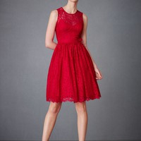 Crimson Lace Dress in SHOP Attire Dresses at BHLDN