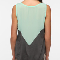 Daydreamer LA V-Neck Chiffon Back Tank Top