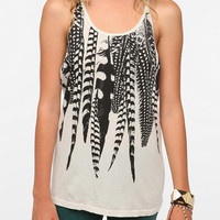 Title Unknown Falling Feather Crossback Tank Top