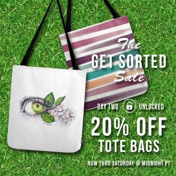 Sale! 20% OFF Tote Bags! by eDrawings38   Society6