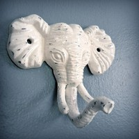 elephant wall hook by monkeyandsquirrel on Etsy