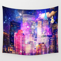 New York Wall Tapestry by Haroulita