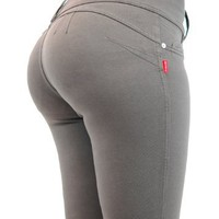 U-Turn Style 1119 Butt lifting, Levanta Cola, Skinny Leg Premium French Terry Fashion Moleton - 8...