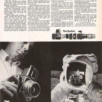 1971 Hasselblad Camera Advertisement Mod Wall Decor Hasselblad Ad Hasselblad 500 EL Advertisement Photographer Gift Studio Decor Moon Camera
