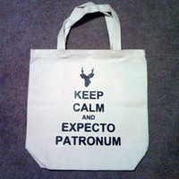 Keep Calm and Expecto Patronum Tote Bag by TheGoodLifebyKatie