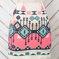 Altar'd State Neon Aztec Skirt | Altar'd State