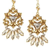 Tom Binns | Rokoco Dumont 22-karat gold-plated crystal earrings | NET-A-PORTER.COM