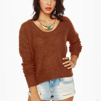 RVCA Needle Park Burnt Orange Sweater