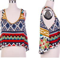 Aztec print High low top